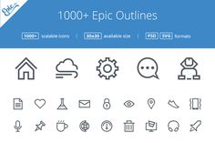 Check out 1000+ Epic outline icon set by EpicShop on Creative Market