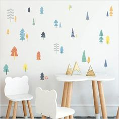 Nordic Style Colorful Forest Tree Wall Stickers For Kids Room Decor,Home Decorators,[tags] - DeliteShopping Kids Wall Decor, Modern Wall Decor, Baby Room Decor, Kids Room Wall Stickers, Wall Stickers Murals, Nursery Wall Murals, Nursery Room, Mural Wall, Wall Art