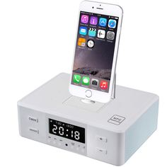 67.98$  Watch now - http://aliw9d.shopchina.info/1/go.php?t=32806168570 - New Docking NFC Bluetooth Speaker Digital LCD Display FM Radio Dual Alarm Clock Dock Charge Playing Station Speaker 67.98$ #magazine