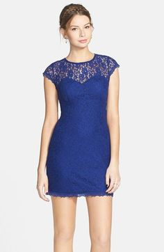As U Wish Lace Illusion Body-Con Dress (Juniors) available at #Nordstrom