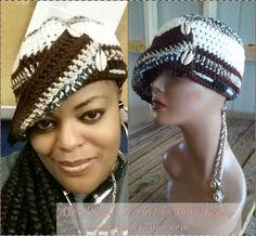 DANA -- AweSome #Crochet by Gina Renay Designs #hat #oneofakind #pretty #unique #handmade #entrepreneurial My Stitch is like woah....