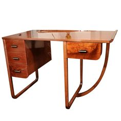 American Art Deco Desk attributed to Gilbert Rohde for Kohler | From a unique collection of antique and modern desks and writing tables at http://www.1stdibs.com/furniture/tables/desks-writing-tables/