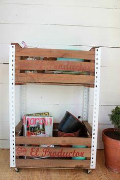 À la folie des recyclages de palettes en bois s'ajoute celle des caisses en bois! Plus petites, ellesrestent souvent dans un coin à prendre la poussière dans l'atelier de bricolage. Alors qu'elles&nb...