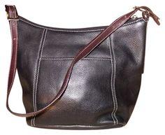 Tignanello Leather Bucket Hobo Bag $37