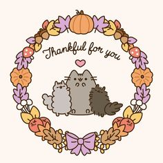 Wallpaper Android Samsung - Happy Thanksgiving Everyone! Pusheen Phone Wallpaper/Background - Wallpapers World Pusheen Wallpaper, Cat Wallpaper, Wallpaper Backgrounds, Phone Backgrounds, Pusheen Gif, Pusheen Love, Pusheen Unicorn, Thanksgiving Background, Thanksgiving Wallpaper
