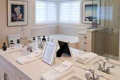 Bathroom Double Sinks, Marigold, Model Homes, Sweet Home, Vanity, Bathroom, Furniture, Home Decor, Dressing Tables