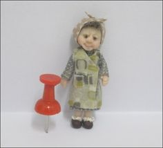 48th Scale 1940/1950's inspired Character. Even the design on her wrap around…