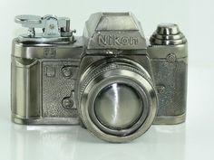Vintage Nikon F3 Novelty Camera Cigarette Lighter Made in Japan - Refillable