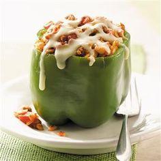 Orzo-Stuffed Peppers Recipe | Taste of Home