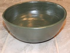 Mothers day! Hand thrown pottery bowl.  This is a one of a kind bowl with a beautiful green glaze.  food safe, hand wash by GabiLuBoutique on Etsy
