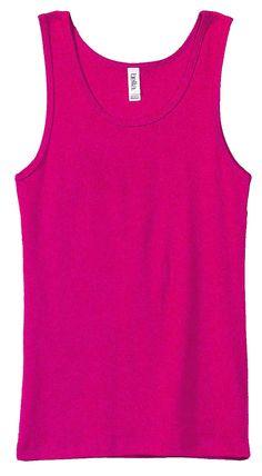 Bella Rib Tank - Buy 100% preshrunk combed ring-spun Bella Ladies Rib Tank top at Gotapparel.com.