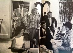 The Kennedys at a party for Eunice, 1959