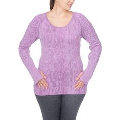 0a986f567e1f6 Plus Size Under Control Women s Plus Super Soft Lux Seamless Active Round  Neck Top with Thumb