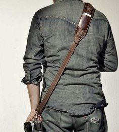 Slingshot Leather Camera Strap | Features Leather Goods | Heavy Leather NYC | Scoutmob Shoppe | Product Detail