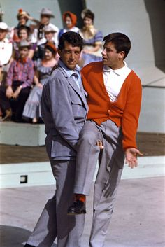 Dean Martin and Jerry Lewis. Photo by Yul Brynner.