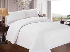 Red Nomad - Luxury 3 Piece Duvet & Sham Set, Full/Queen, White -   - http://homesegment.com/home-kitchen/red-nomad-luxury-3-piece-duvet-sham-set-fullqueen-white-com/