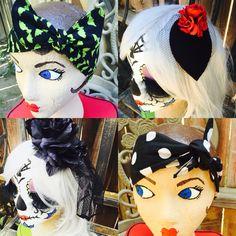 Pinup hair rockabilly rockabella rockabetty dolly bow hair flowers Halloween