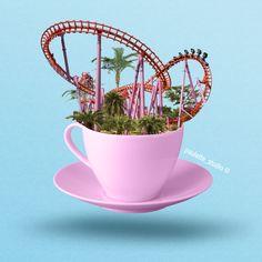 Coffee Funfair ! ☕🎡 - #candyminimal #colorful #candyminimalist #pastelminimal #fun #pastelminimalist #frenchblogger #graphicdesign #conceptart #concept #graphisme #artwork #purple #creativity #creative #nice #graphicdesigner #graphiste #paulettestudio #artwork #california #coffee #photooftheday  #art #design #graphisme #pauletteportfolio #photoshop  #palmspring #holidays #hellosummer #funfair