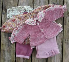 Please note, this listing is RESERVED for Meg    _____________________________    This doll outfit consists of 3 beautiful floral blouses made with