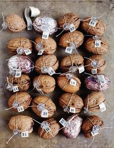 How sweet is this walnut advent calendar...