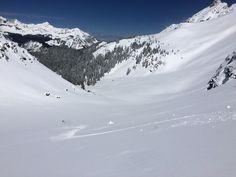 April powder-shower!! #alpenglowskisafaris #skicolorado Ski Touring, Alpine Skiing, Alps, Landscapes, Powder, Tours, Snow, Mountains, Nature