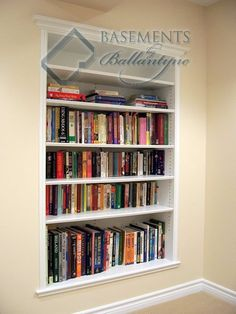 built in bookcase...