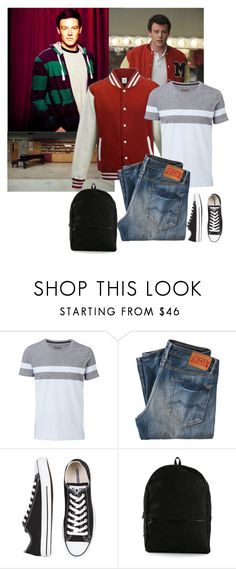 """""""Glee - Finn Chapter 3 Set - Behind Closed Doors Fanfiction"""" by firewitch23 ❤ liked on Polyvore featuring Hudson Jeans, Witchery, Kings of Indigo, Converse, Henson, men's fashion and menswear"""
