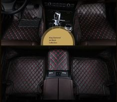 Spartan Autotec Floor Liners Front and Second Row Seats for Range Rover Evoque - King Diamond Series - Jet Black promoted by Main Street Mobile Billboards Range Rover Evoque, Chrysler 300, Foot Pads, Interior Accessories, Floor Mats, Nissan, King Diamond, Luxury, Main Street