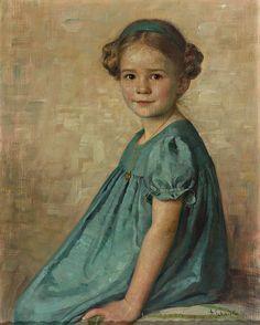 Adolf Schmidlin (1868-1954) — Portrait of a Little Girl  (820x1024)