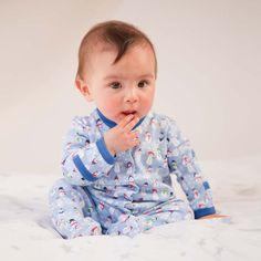"""JoJo Maman Bebe Salopeta de dormit """"Snowman Print"""", 0-3 luni 3-6 luni; 6-12 luni"""