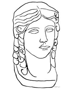 Artist Kate Roebuck's ability to give fresh edge to antique ideas is oh-so-evident in this print. Her use of a sleek outline makes the Roman-inspired subject feel contemporary and on-trend.