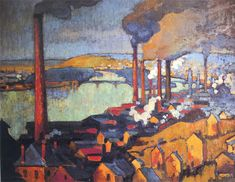 Robert Antoine Pinchon, Usines à Eauplet, oil on canvas, 73 x 92 cm, private collection.jpg