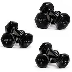 Includes LEKFIT and dumbbell sets Vinyl Coated Cast IronBlack Black Spot clean Imported Dumbbell Set, Spot Cleaner, Tone It Up, Black Spot, No Equipment Workout, It Cast, Cleaning, Fitness Products, Carriage House