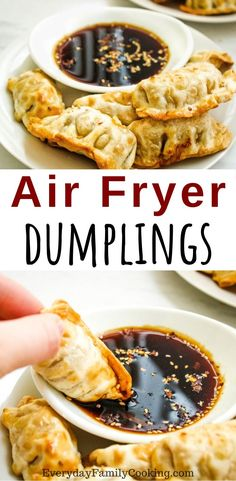 How to make frozen potstickers in your air fryer to perfection. Works with vegetable pot stickers, chicken pot stickers, beef pot stickers, and more. meals air fryer Easy Air Fryer Dumplings Made From Frozen How To Cook Dumplings, Frozen Dumplings, Air Fryer Dinner Recipes, Air Fryer Oven Recipes, Weight Watchers Desserts, Air Fryer Recipes Weight Watchers, Best Air Fryers, Air Fryer Healthy, Gourmet