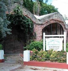The West Martello fort, home of the Key West Garden Club.