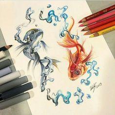 #art #dibujo #dibujo #naturaleza #vida  #peces