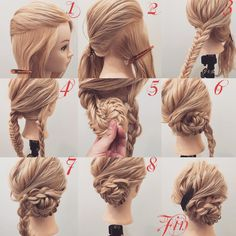 braided bun hair tutorial: the most beautiful tutorials and photos Discover a beautiful collection of the most beautiful braided buns, tutorials easy to do at home, enjoy Pretty Hairstyles, Braided Hairstyles, Wedding Hairstyles, Crazy Hairstyles, Updo Hairstyle, Braid Hair, Wedding Updo, Bridal Hair Inspiration, Hair Arrange