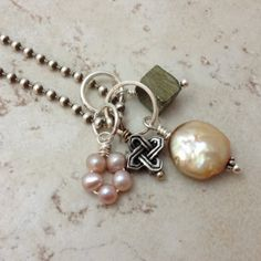 DIY Charm Necklace, Add a Charm Necklace Sterling Silver Knot Charm by 916Designs