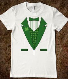 47914860 Funny Leprechaun Tuxedo Irish T-Shirts, Funny St Patricks Day Shirts | T- Shirt | SKREENED