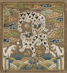 Badge of the Upper Military Rank with Two Tigers  Joseon dynasty  Late 19th century From the LA County Museum of Art.