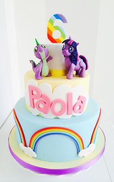 MLP Rainbow cake