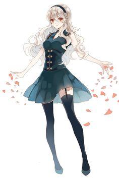 Fire Emblem corrin,so pretty. Pretty Anime Girl, Beautiful Anime Girl, Kawaii Anime Girl, Anime Art Girl, Chica Anime Manga, Manga Girl, Fire Emblem Fates Corrin, Female Corrin, Fire Emblem Characters