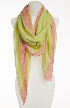 pink and green watercolor scarf fashion hats and