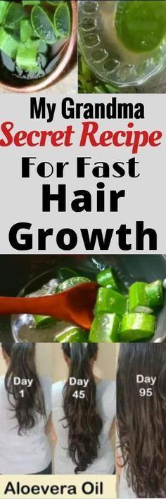 DIY Aloe Vera oil for fast hair growth. My grandma secret recipe for fast hair growth