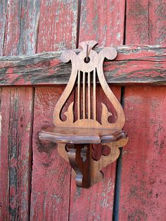 Harp & Clovers Vintage Carved Wooden Whatnot Shelf