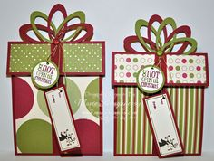 Stamping Inspiration: HOLLY JOLLY STAMP CAMP, Present Gift Card Holder...