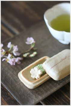 Japanese tea and sweets 八女茶と干菓子