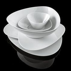 Assiette à dessert Colombina Alessi - Blanc Contemporary Dinnerware, Modern Dinnerware, Dinnerware Sets, Assiette Design, Vase Deco, Food Storage Boxes, Dining Ware, Neutral, Stainless Steel Types