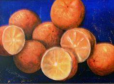 Orangen, Acryl, 85x65 cm