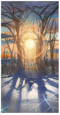 Winter Sostice Sunrise by Android Jones https://www.facebook.com/AndroidJonesart/?fref=nf